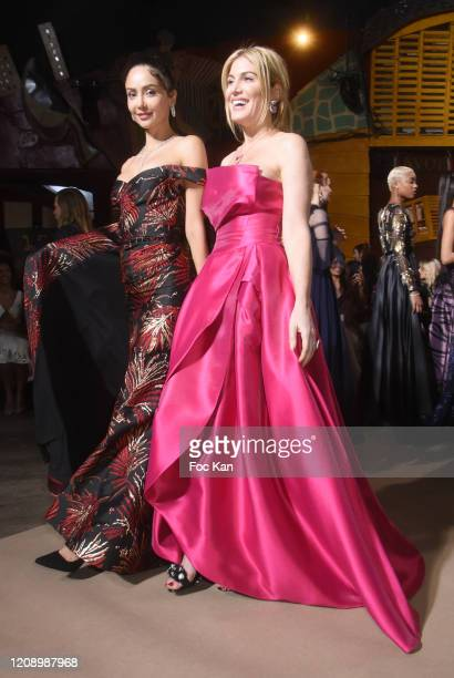 Hofit Golan and Patricia Contreras walk the runway during the Christophe Guillarme show as part of the Paris Fashion Week Womenswear Fall/Winter...