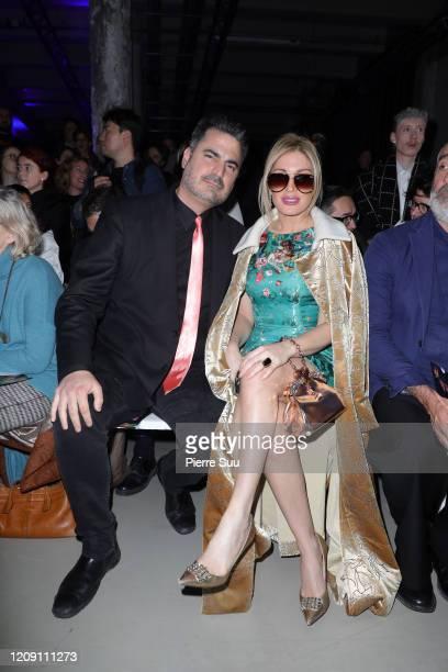 Hofit Golan and Rocco Leo Gaglioti attend the Leonard Paris show as part of the Paris Fashion Week Womenswear Fall/Winter 2020/2021 on February 27...