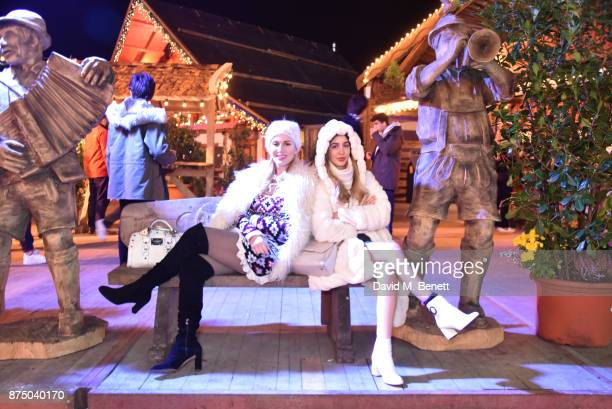 Hofit Golan and Rosa Crespo attend the VIP launch of Hyde Park Winter Wonderland 2017 on November 16 2017 in London England