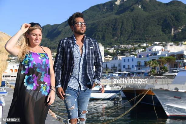 Hofit Golan and Samuel Sohebi attend 2017 Ischia Global Film Music Fest on July 9 2017 in Ischia Italy