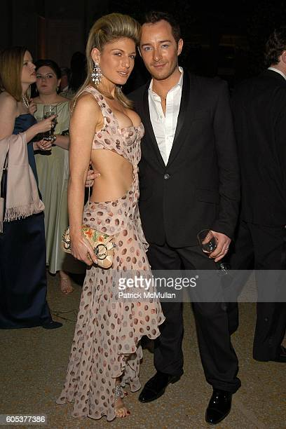 Hofit Golan and Scott Henschel attend THE METROPOLITAN MUSEUM OF ART Costume Institute Spring 2006 Benefit Gala celebrating the exhibition AngloMania...