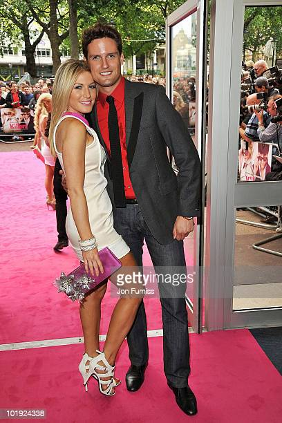 Hofit Golan and Stephen Bowman of classical vocal group Blake attend the European Premiere of 'Killers' at Odeon West End on June 9 2010 in London...
