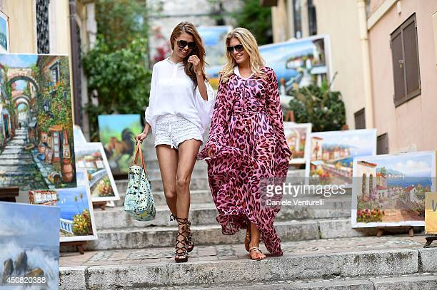 Hofit Golan and Victoria Bonya attend a portait session during the 60th Taormina Film Fest on June 18 2014 in Taormina Italy