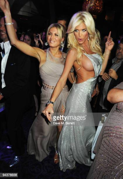 Hofit Golan and Victoria Silvstedt attend the Grey Goose Character Cocktails Winter Fundraiser Ball in aid of the Elton John AIDS Foundation at the...