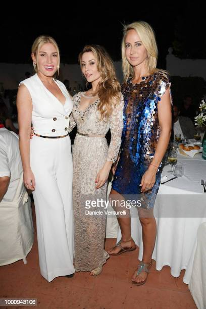 Hofit Golan Antonella Salvucci and Lady Victoria Hervey attend 2018 Ischia Global Film Music Fest on July 17 2018 in Ischia Italy