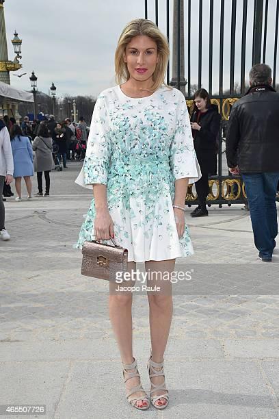 Hofit Golan arrives at Elie Saab Fashion Show during Paris Fashion Week Fall Winter 2015/2016 on March 7 2015 in Paris France