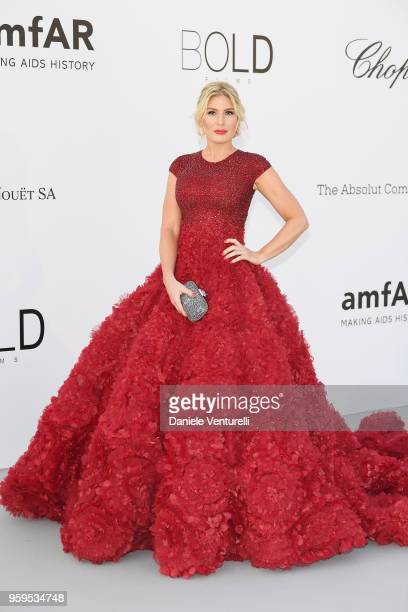 Hofit Golan arrives at the amfAR Gala Cannes 2018 at Hotel du CapEdenRoc on May 17 2018 in Cap d'Antibes France