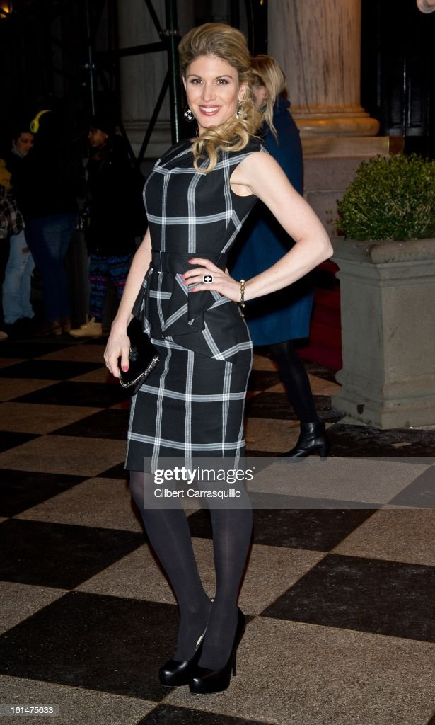 Hofit Golan arrives at the Zac Posen Fall 2013 Mercedes-Benz Fashion Show at The Plaza Hotel on February 10, 2013 in New York City.