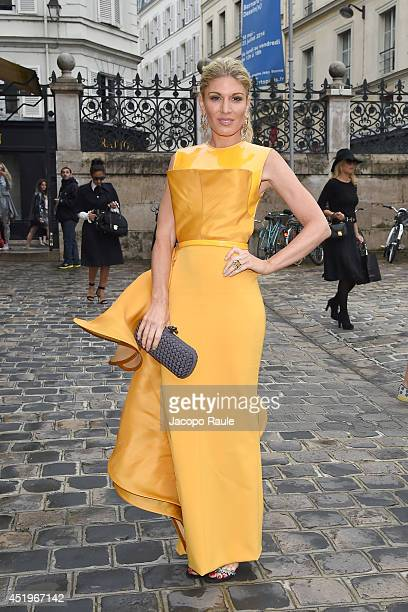 Hofit Golan arrives at Zuhair Murad show as part of Paris Fashion Week Haute Couture Fall/Winter 20142015 on July 10 2014 in Paris France