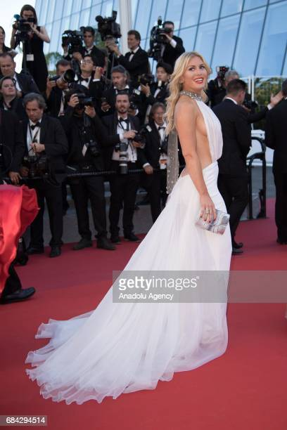 Hofit Golan arrives for the screening of the film 'Les Fantomes dIsmael' out of competition and the Opening Ceremony of the 70th annual Cannes Film...