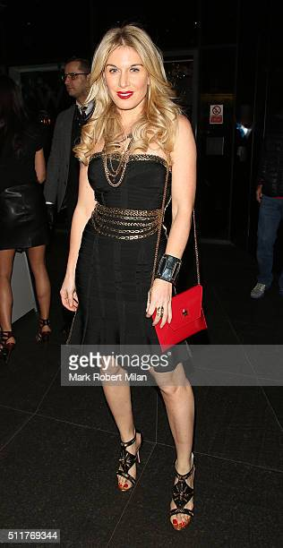 Hofit Golan attending the JF London a/w1617 presentation and party at the W hotel on February 22 2016 in London England