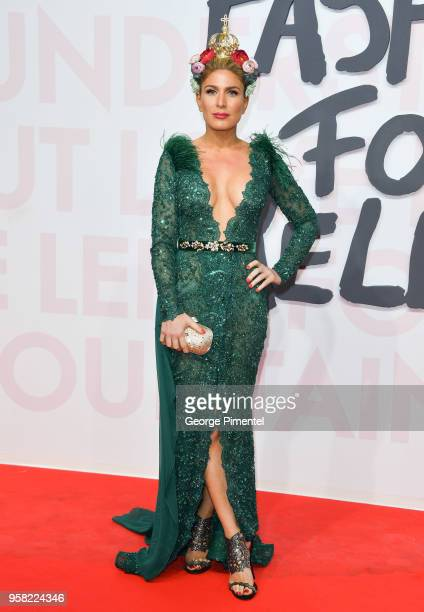 Hofit Golan attends Fashion For Relief Cannes 2018 during the 71st annual Cannes Film Festival at Aeroport Cannes Mandelieu on May 13 2018 in Cannes...