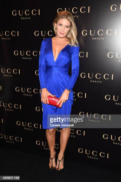 Hofit Golan attends Gucci Beauty Launch Event Hosted By Frida Giannini during the Milan Fashion Week Womenswear Spring/Summer 2015 on September 17...