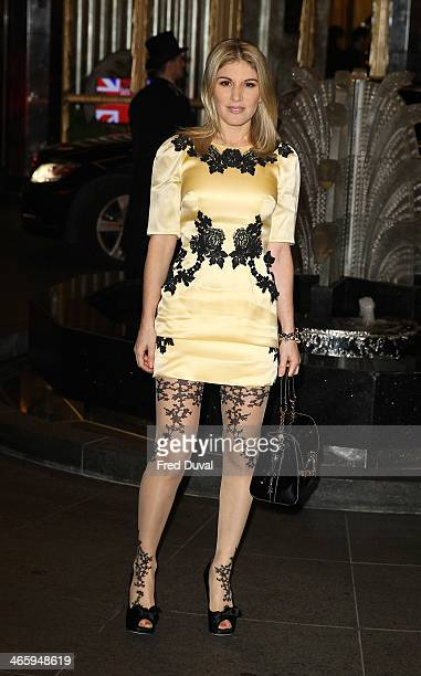 Hofit Golan attends 'Kate Moss At The Savoy' an exhibition of never before seen photographers of Kate Moss at The Savoy Hotel on January 30 2014 in...