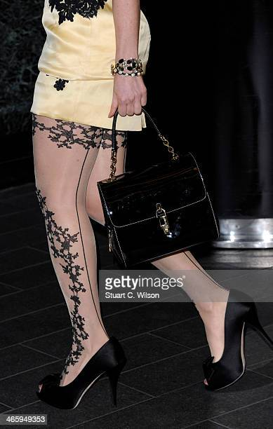 Hofit Golan attends 'Kate Moss At The Savoy' an exhibition of never before seen photographies of Kate Moss at The Savoy Hotel on January 30 2014 in...