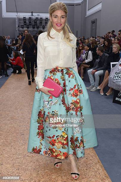 Hofit Golan attends the Chloe show as part of the Paris Fashion Week Womenswear Spring/Summer 2016 on October 1 2015 in Paris France