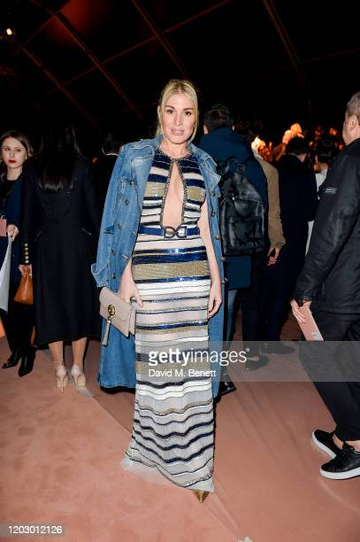 Hofit Golan attends the Elisabetta Franchi show during Milan Fashion Week Fall/Winter 20202021 on February 24 2020 in Milan Italy