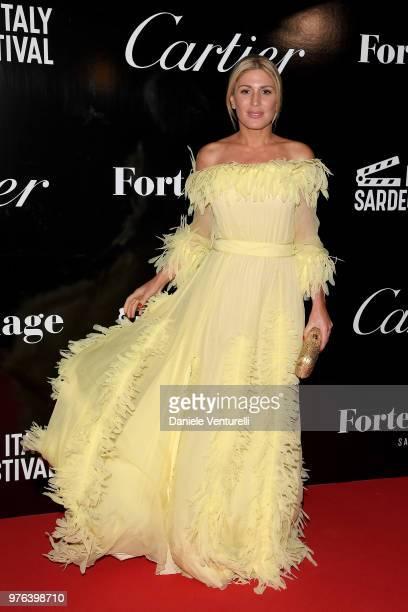 Hofit Golan attends the 'Filming Italy Sardegna Festival' gala dinner at Forte Village Resort on June 16 2018 in Santa Margherita di Pula Cagliari...