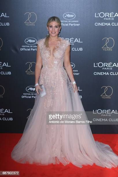 Hofit Golan attends the Gala 20th Birthday Of L'Oreal In Cannes during the 70th annual Cannes Film Festival at Hotel Martinez on May 24 2017 in...