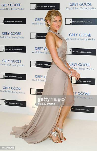 Hofit Golan attends the Grey Goose Character Cocktails winter fundraiser in aid of the Elton John AIDS Foundation at The Grosvenor House Hotel on...