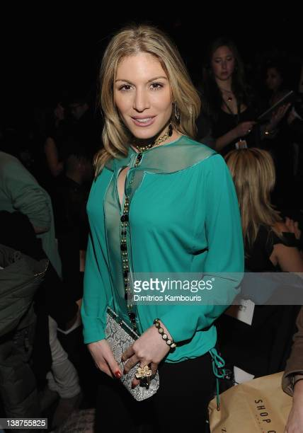 Hofit Golan attends the Herve Leger by Max Azria Fall 2012 fashion show during MercedesBenz Fashion Week at the The Theatre at Lincoln Center on...