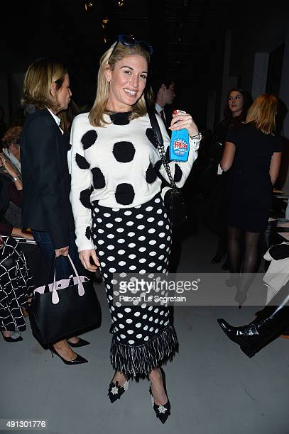 Hofit Golan attends the John Galliano show as part of the Paris Fashion Week Womenswear Spring/Summer 2016 on October 4 2015 in Paris France