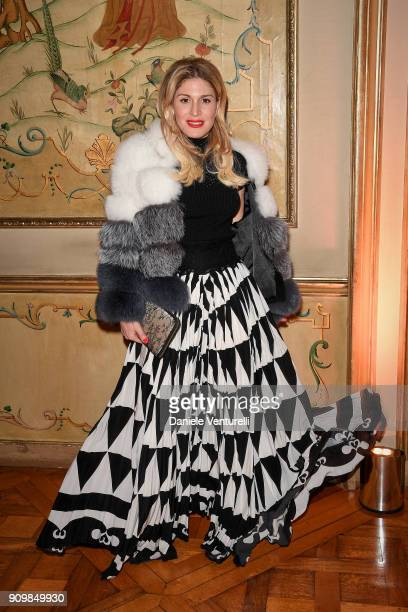 Hofit Golan attends the Pomellato after party for the new campaign launch with Chiara Ferragni as part of Paris Fashion Week during HauteCouture...