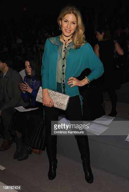Hofit Golan attends the Tibi Fall 2012 fashion show during MercedesBenz Fashion Week at the The Stage at Lincoln Center on February 11 2012 in New...