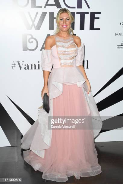 Hofit Golan attends the Vanity Fair Black And White Ball Photocall during the 76th Venice Film Festival at Scuola Grande della Misericordia on August...