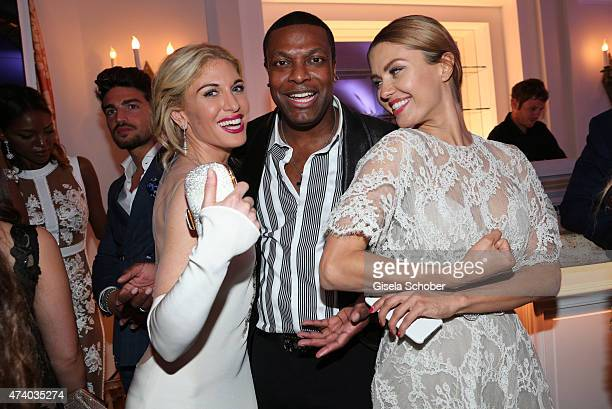 Hofit Golan Chris Tucker and Victoria Bonya attend the De Grisogono party during the 68th annual Cannes Film Festival on May 19 2015 in Cap d'Antibes...
