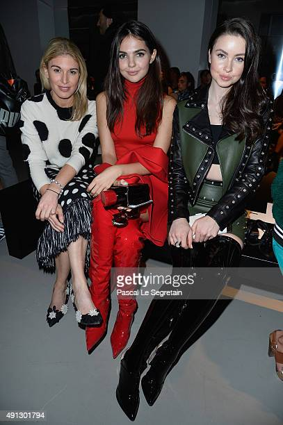 Hofit Golan Doina Ciobanu and Emma Miller attend the John Galliano show as part of the Paris Fashion Week Womenswear Spring/Summer 2016 on October 4...