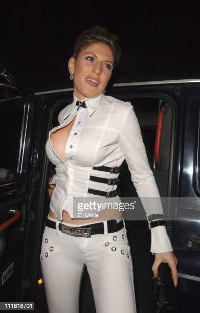 Hofit Golan during Ashlee Simpson Birthday Party Arrivals October 11 2006 at Embassy Club in London Great Britain