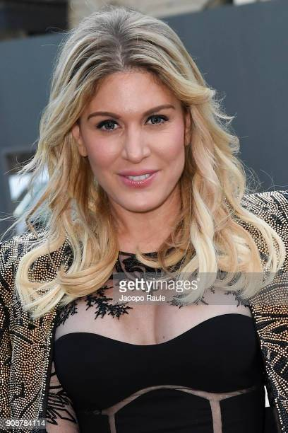 Hofit Golan is seen arriving at Ralph Russo show during Paris Fashion Week Menswear Fall Winter 2018/2019 on January 22 2018 in Paris France