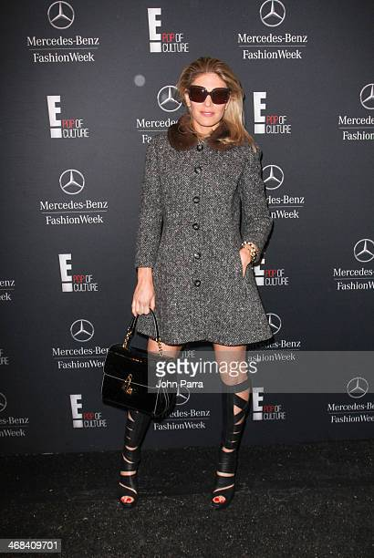 Hofit Golan is seen during MercedesBenz Fashion Week Fall 2014 at Lincoln Center for the Performing Arts on February 10 2014 in New York City