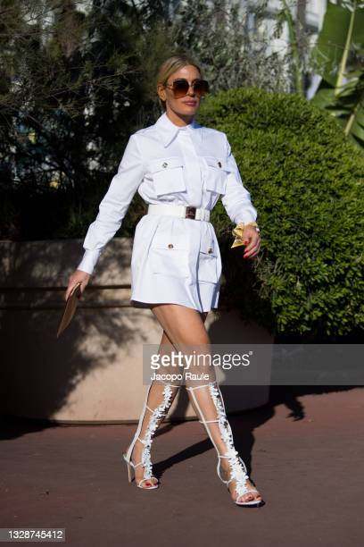 Hofit Golan is seen during the 74th annual Cannes Film Festival at on July 14, 2021 in Cannes, France.