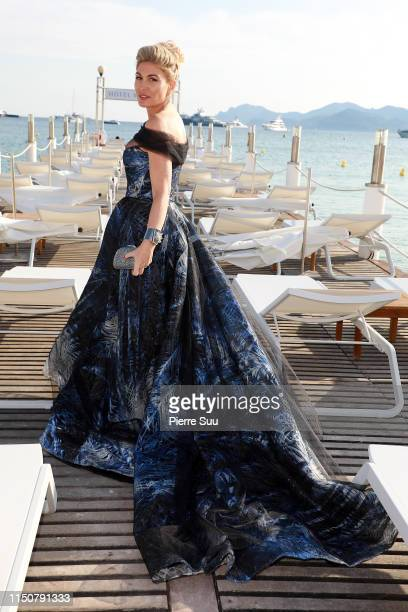 Hofit Golan is seen on the beach during the 72nd annual Cannes Film Festival at on May 21 2019 in Cannes France