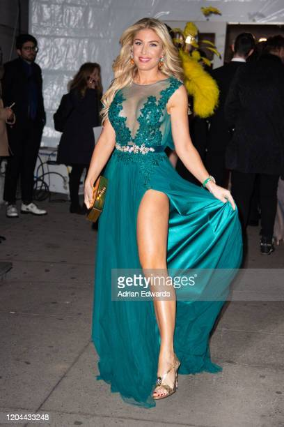 Hofit Golan outside the amFAR Gala held at Cipriani Wall St on February 5, 2020 in New York City.