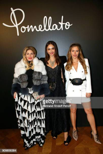 Hofit Golan Patricia Contreras and Maja Malnar attend the new Pomellato campaign launch with Chiara Ferragni as part of Paris Fashion Week during...