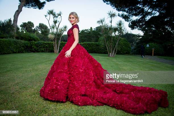 Hofit Golan poses for portraits at the amfAR Gala Cannes 2018 cocktail at Hotel du CapEdenRoc on May 17 2018 in Cap d'Antibes France