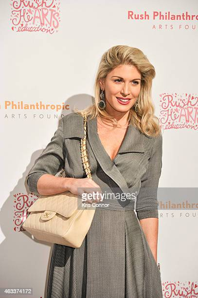 Hofit Golan poses on the red carpet during the Annual Rush HeARTS Education Valentine's Luncheon at The Plaza Hotel on February 13 2015 in New York...