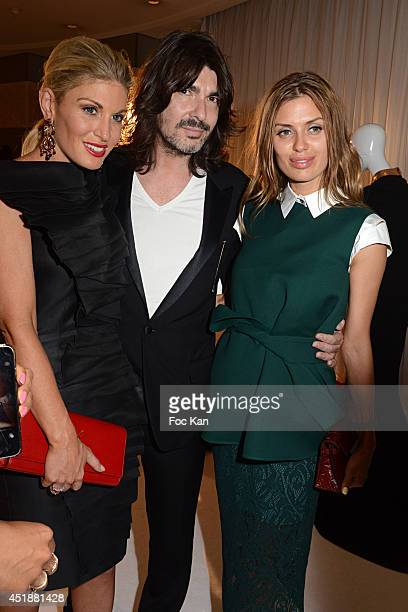 Hofit Golan Stephane Rolland and Victoria Bonya attend the Stephane Rolland Show as part of Paris Fashion Week Haute Couture Fall/Winter 20142015 at...