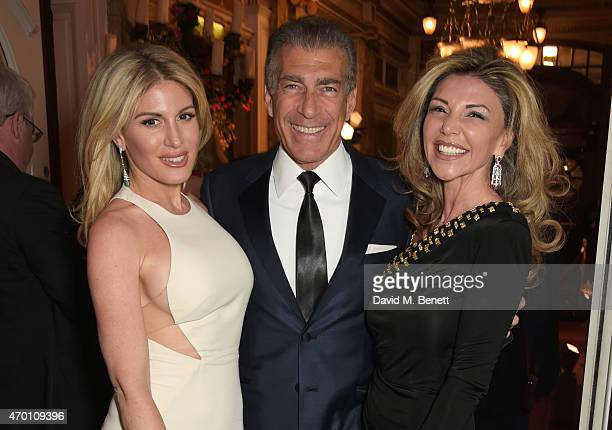 Hofit Golan Steve Varsano and Lisa Tchenguiz attend The Backstage Gala in aid of The Naked Heart Foundation at The London Coliseum on April 17 2015...