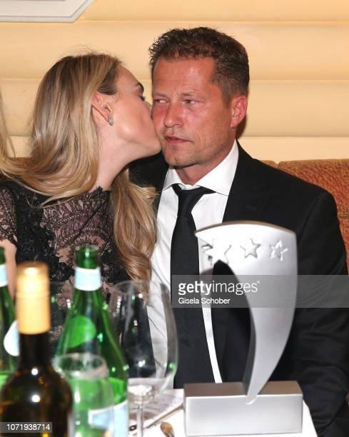 Hofit Golan Til Schweiger and his girlfriend Francesca Dutton during the Audi Generation Award 2018 at Hotel Bayerischer Hof on December 11 2018 in...