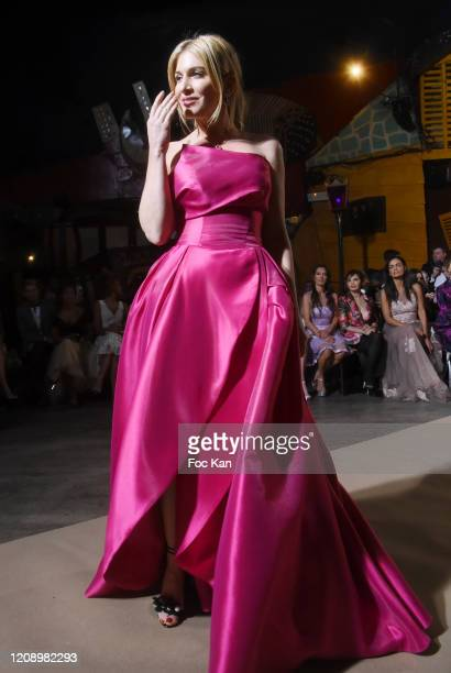 Hofit Golan walks the runway during the Christophe Guillarme show as part of the Paris Fashion Week Womenswear Fall/Winter 2020/2021 on February 26...