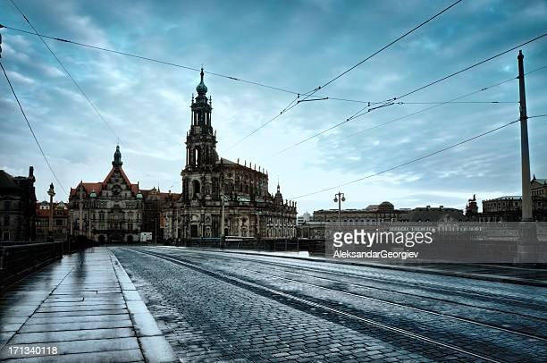 Hofkirche mit Semperoper in Dresden, Deutschland