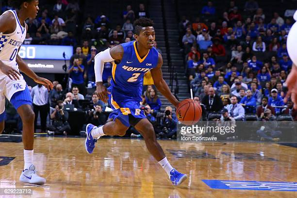 Hofstra Pride guard Deron Powers during the first half of the NCAA Men's basketball game between the Kentucky Wildcats and the Hofstra Pride on...