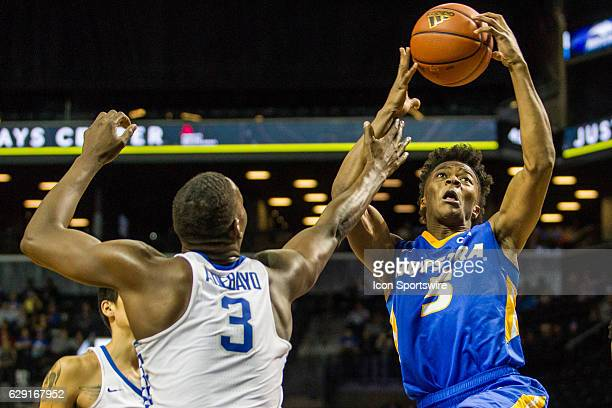 Hofstra Pride Guard Eli Pemberton drives to the basket during the second half of a NCAA Division 1 basketball game between the Hofstra Pride and the...