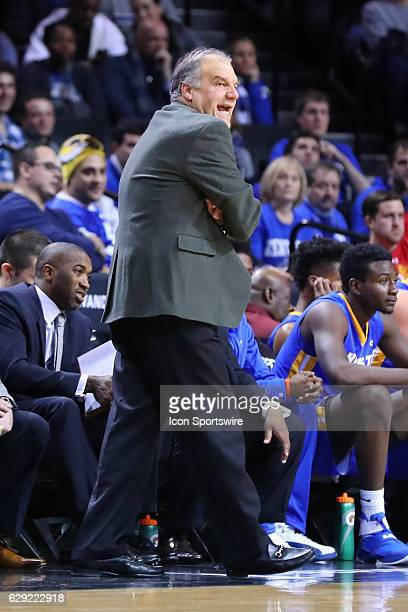 Hofstra Pride head coach Joe Mihalich during the second half of the NCAA Men's basketball game between the Kentucky Wildcats and the Hofstra Pride on...