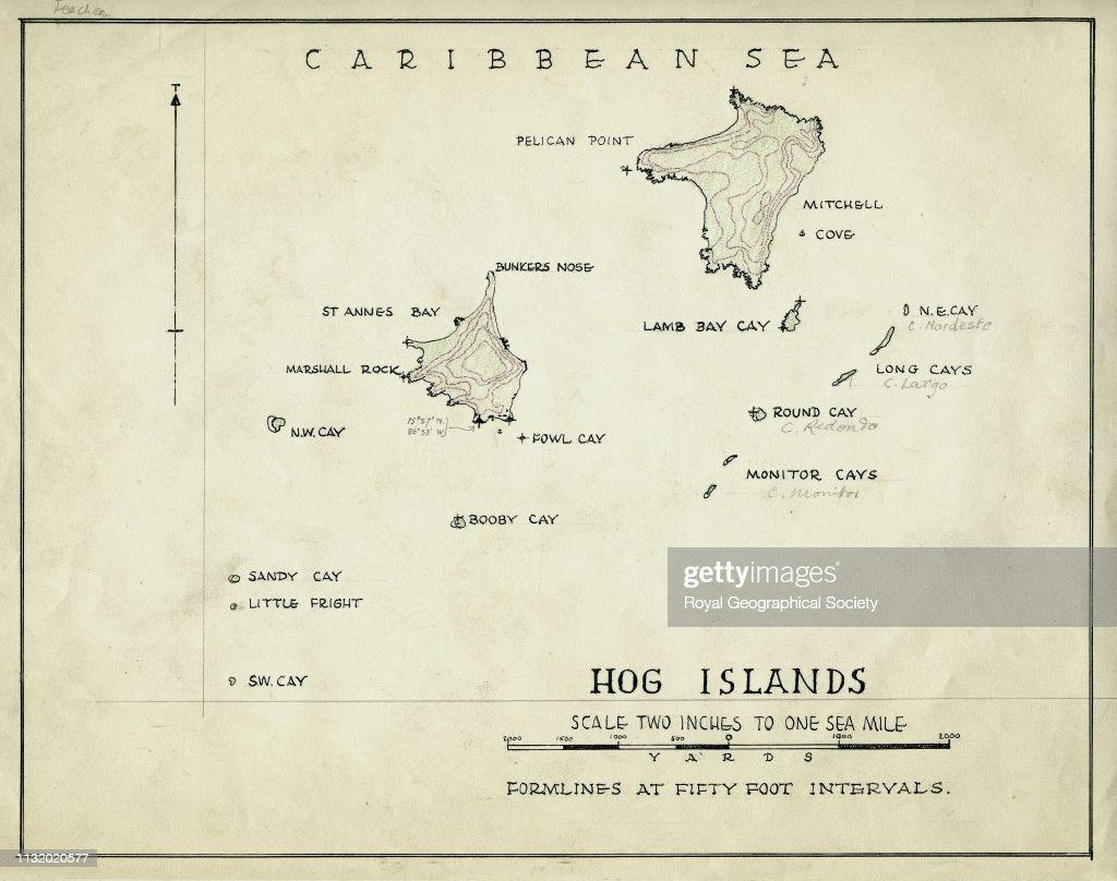 Hog Islands, Caribbean Sea, From R W  Feachem - The Bay