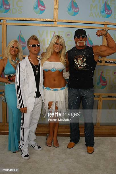 Hogan Family attends ARRIVALS2005 MTV Video Music Awards at American Airlines Arena on August 28 2005 in Miami FL